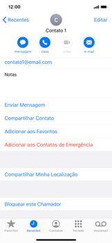 Apple iPhone X - iOS 13 - Chamadas - Como bloquear chamadas de um número específico - Etapa 5