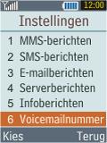 Samsung B2100 Xplorer - Voicemail - Handmatig instellen - Stap 5