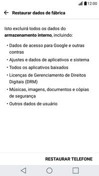 LG G5 Stylus - Funções básicas - Como restaurar as configurações originais do seu aparelho - Etapa 8