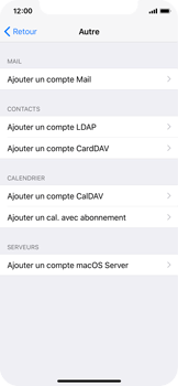 Apple iPhone X - E-mail - Configuration manuelle - Étape 6