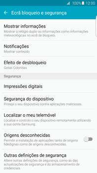 Samsung Galaxy S6 Edge + - Segurança - Como ativar o código PIN do cartão de telemóvel -  5