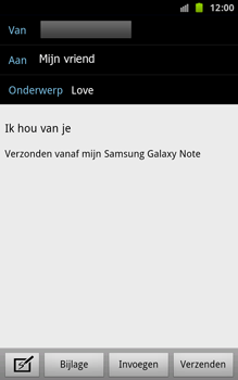 Samsung N7000 Galaxy Note - E-mail - hoe te versturen - Stap 8