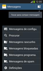 Samsung Galaxy Trend Plus - SMS - Como configurar o centro de mensagens -  5