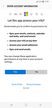 Samsung Galaxy S8 Plus - E-mail - Manual configuration (outlook) - Step 8