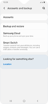 Samsung Galaxy A20e - Data - Create a backup with your account - Step 5