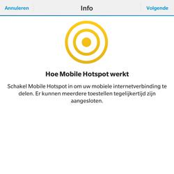 BlackBerry Passport - WiFi - Mobiele hotspot instellen - Stap 6