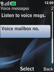 Nokia 6600i slide - Voicemail - Manual configuration - Step 7