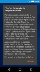 Sony Xperia M4 Aqua - Primeiros passos - Como ligar o telemóvel pela primeira vez -  13