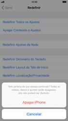 Apple iPhone iOS 11 - Funções básicas - Como restaurar as configurações originais do seu aparelho - Etapa 9