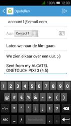 Alcatel OneTouch PIXI 3 (4.5) 3G (OT-4027X) - E-mail - Hoe te versturen - Stap 10