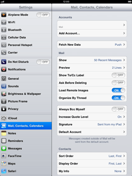 Apple iPad mini - E-mail - Manual configuration - Step 14