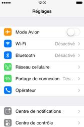 Apple iPhone 4 iOS 7 - Réseau - Utilisation à l