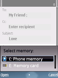 Nokia E75 - Email - Sending an email message - Step 9