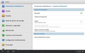 Samsung P7500 Galaxy Tab 10-1 - Bluetooth - Conectar dispositivos a través de Bluetooth - Paso 6