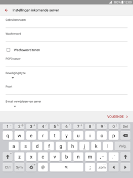 Samsung Galaxy Tab A 9.7 (SM-T555) - E-mail - Handmatig instellen - Stap 10