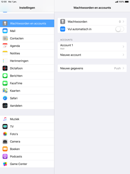Apple iPad Air iOS 12 - E-mail - e-mail instellen: IMAP (aanbevolen) - Stap 16