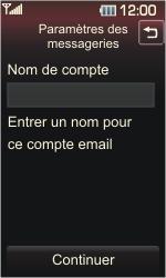 LG KP500 Cookie - E-mail - Configuration manuelle - Étape 13