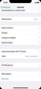 Apple iPhone X - Aller plus loin - Restaurer les paramètres d'usines - Étape 4