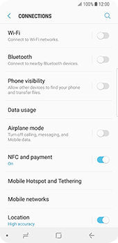 Samsung Galaxy S9 - WiFi and Bluetooth - Manual configuration - Step 5
