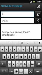 Sony ST25i Xperia U - E-mail - envoyer un e-mail - Étape 4