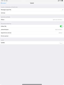 Apple iPad Pro 12.9 (2018) - E-mail - Configuration manuelle - Étape 22