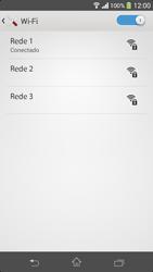 Sony C5303 Xperia SP - Wi-Fi - Como configurar uma rede wi fi - Etapa 8