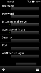 Nokia 700 - Email - Manual configuration POP3 with SMTP verification - Step 20