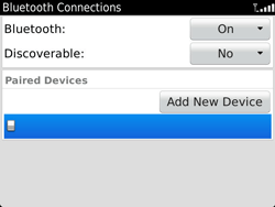 BlackBerry 9900 Bold Touch - Bluetooth - Pair with another device - Step 11