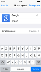 Apple iPhone 5c - Internet - Navigation sur Internet - Étape 6