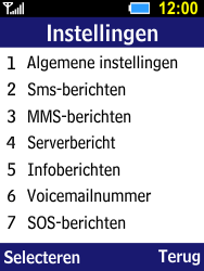 Samsung B550H Xcover 550 - SMS - handmatig instellen - Stap 5