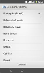 Sony D2105 Xperia E1 Dual - Primeiros passos - Como ativar seu aparelho - Etapa 4