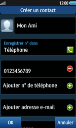 Samsung Wave 2 - Contact, Appels, SMS/MMS - Ajouter un contact - Étape 8