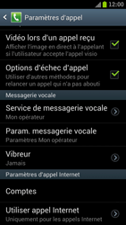 Samsung I9300 Galaxy S III - Messagerie vocale - Configuration manuelle - Étape 5