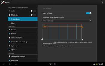 Sony Xperia Tablet Z - Internet - Ver uso de datos - Paso 5