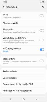 Samsung Galaxy A50 - Rede móvel - Como ativar e desativar o roaming de dados - Etapa 5