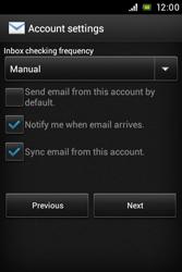 Sony ST21i Xperia Tipo - E-mail - Manual configuration - Step 13