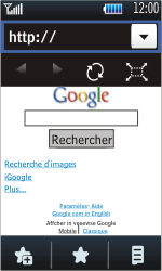 Samsung S5620 Monte - Internet - Navigation sur Internet - Étape 5