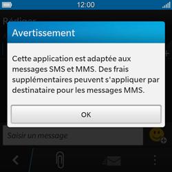 BlackBerry Q10 - Contact, Appels, SMS/MMS - Envoyer un SMS - Étape 4