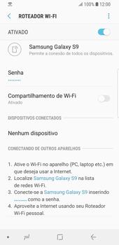 Samsung Galaxy S9 - Wi-Fi - Como usar seu aparelho como um roteador de rede wi-fi - Etapa 14