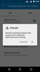 Motorola Moto E (2ª Geração) - Rede móvel - Como ativar e desativar uma rede de dados - Etapa 7