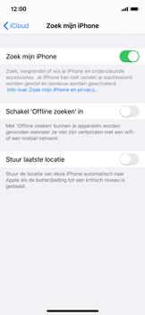 Apple iphone-x-met-ios-13-model-a1901 - Beveiliging en ouderlijk toezicht - Zoek mijn iPhone inschakelen - Stap 12