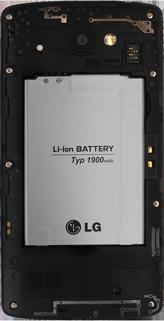 LG Leon - Primeros pasos - Quitar y colocar la batería - Paso 4