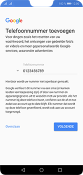 Huawei P20 Lite Dual-SIM (Model ANE-LX1) - Applicaties - Account aanmaken - Stap 13
