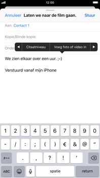 Apple iPhone 6 Plus - iOS 12 - E-mail - Bericht met attachment versturen - Stap 10