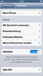 Apple iPhone 5 - Basisfunktionen - SIM-PIN aktivieren und ändern - Schritt 4