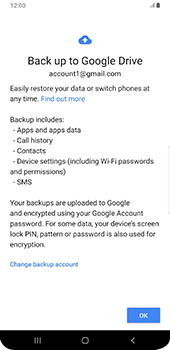 Samsung galaxy-s9-plus-android-pie - Data - Create a backup with your account - Step 10