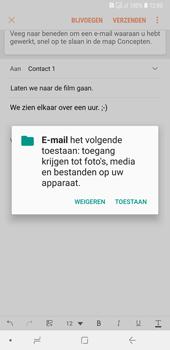 Samsung Galaxy A7 (2018) - E-mail - hoe te versturen - Stap 12