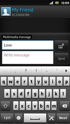 Sony ST25i Xperia U - Mms - Sending a picture message - Step 10