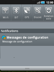 Samsung S5570 Galaxy Mini - Internet - configuration automatique - Étape 5