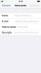 Apple iPhone 5s - iOS 12 - Email - Configurar a conta de Email -  8